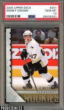 2005 Upper Deck Young Guns Hockey #201 Sidney Crosby RC Rookie PSA 10 GEM MINT