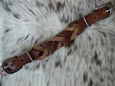 Heavy Duty BRAIDED Western Leather Curb Strap for Horse Bridles NEW Horse Tack