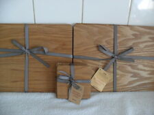 Wooden Table Place Mats and Coaster Set Brown Set 4   BNIB