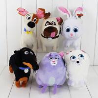 6pcs The Secret Life Of Pets Rabbit Dog Cat Fox Character Plush Soft Toys Gift