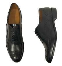 Bally Men's Shoes Size 10 (UK 9) Black Calf Leather Wingtip Oxfords - Bruck