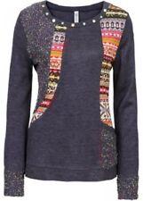 Damen Strickpullover Patchwork Pullover Gr. 36/38 40/42 44/46 48/50 52/54 56/58