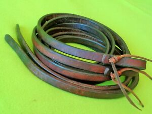 "SCHUTZ Bros Harness Leather WEIGHTED Tail 8-1/2' x 5/8"" Split REINS~SUPPLE~NR"