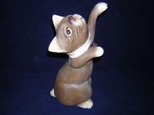 statue statuette 25 cm chat bois sculpté  gris
