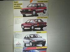 DEPLIANT GAMME OPEL 1985 /ASCONA /MANTA GSI /KADETT /MONZA /CORSA....