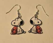 Snoopy Earrings Snuggle Bunny charms