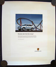 PORSCHE OFFICIAL CAYENNE S LET GO SHOWROOM ADVERTISING POSTER 2005 SMALL USA.