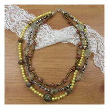 "17"" Necklace Costume Jewellery Gold Mixed Beads Crystal Stone Party Fashion 228"