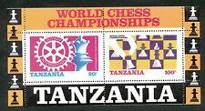 Tanzania blok 54 postfris motief schaken