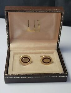 Vintage Dunhill Cufflinks, stainless Steel and Gold plated - Boxed
