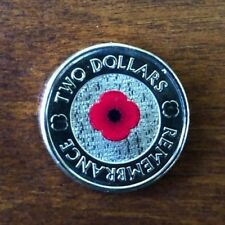 Australian $2 Two Dollar 2018 Red Poppy Remembrance 2012 Version  UNC COIN