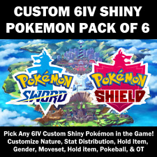 Pokemon Custom Ultra Shiny 6IV Pack of 6 for Pokemon Sword and Shield SUPER SALE