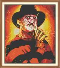 Freddy kruger CROSS STITCH CHART 12.0 x 10.4 Inches