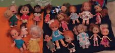 Mixed lot Vintage Hard Plastic dolls Poseable some with vintage dress