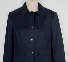 Ann Taylor Military jacket dress uniform style lined Navy Blue Womens Size 4