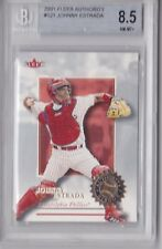 2001 Fleer Authority Johnny Estrada Rookie Graded BGS 8.5
