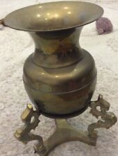 Antique Style Gold Bronze Gift Urn With Stand. Urn Is 12cms