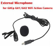 External Mic Microphone for Gitup Git1/Git2 Wireless Car Sports Action Camera DV