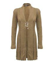 Ladies Women Knitted Long Sleeve Boyfriend  Cardigan Crochet Dress Top Size 12