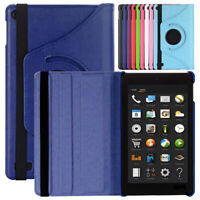 For Amazon Fire HD 8 (8th 7th Generation) Tablet Slim Rotating Stand Smart Case