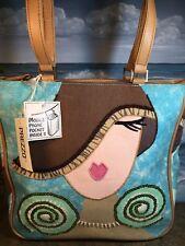 PREZZO shoulder Tote NEW Beaded Fashion Design Bling Stitch Mobile Phone Pocket