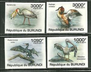 BURUNDI 867-70 BIRDS IMPERF SCV 15.00