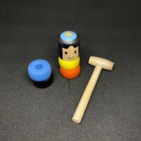 Unbreakable Wood Magic Daruma Jumps Toy Wooden Stubborn Man Funny Gift Toy YW