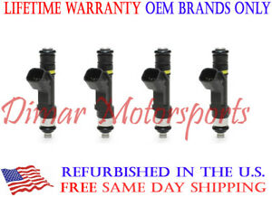 Lifetime Warranty 4-Hole UPGRADE Fuel Injector Set Jeep Cherokee Dodge Dart