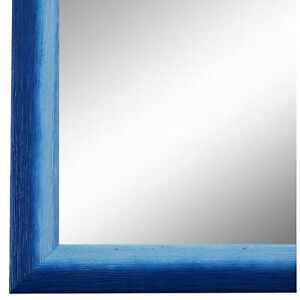 Spiegel Wandspiegel Flur Garderobe Blau Retro Holz Pinerolo 2,3 - NEU