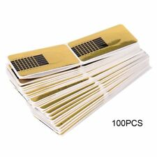 100pcs Gold Nail Art Forms Tip Sculpting Guide Stickers Salon Acrylic Gel