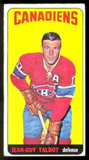 1964 65 TOPPS TALL BOYS HOCKEY #52 JEAN GUY TALBOT EX+ MONTREAL CANADIENS CARD