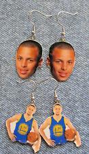 Warriors Step Curry Basketball Dangled EARRINGS