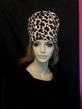 Vintage tall hat mod leopard print 1960 1970