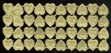 Scrap Die Cut German Dresden Gold Foil Paper Floral Hearts Victorian Crafts
