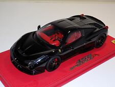 "1/18 BBR Ferrari 458 Speciale ""A"" in Gloss Black No Stripe Black Wheels P18102"