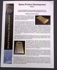 SPACE PRODUCT DEVELOPMENT AiroCide TiO2 anti-terrorism anthrax filter sheet