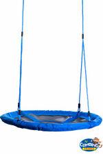100cm Large Padded Kids Basket Crows Nest Swing Seat BLUE/BLACK Climbing Frame