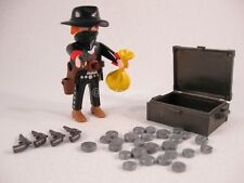 PLAYMOBIL VINTAGE 3814 WESTERN BANDIT GOLD SILVER COLLECTOR-COMPLETE-EXCELLENT