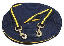 Doppellonge SOFT 17 m Longe Softlonge - blau/gelb - H&H Celle / DHL-Versand