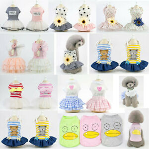 New Dog Princess Dress Small Pet Puppy Cat Love Angel Skirt Clothes Apparels