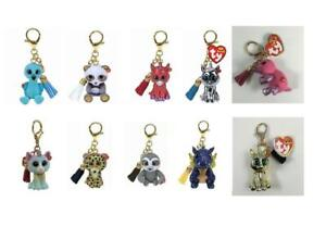 Ty Mini Boos NEW Metal Key Clips Hand Painted Toys  Choose your own Character
