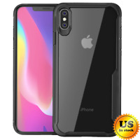 For iPhone XS Max XR Mosafe® Shockproof Clear Transparent Protective Case Cover