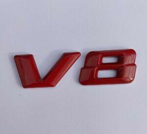 V8 Badge Tout Rouge Métal Emblème Pour Dodge Chargeur Challanger Caliber Trajet