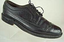 Dexter Men's Black leather Oxford Wingtip Full Brogue Shoes USA Made - Size 9 E