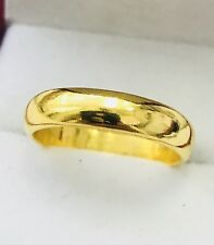 24k Pure 9999 Solid Yellow Gold Handmade band ring Any size 4-11 made USA 7.5gr