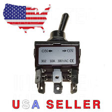IndusTec 20A 12V Toggle - Switch TPDT 2 Pos Maintained 9 pin Quick Plug Spade