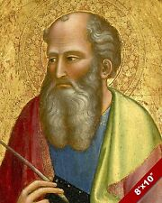 APOSTLE JOHN THE EVANGELIST PAINTING CHRISTIAN BIBLE ART REAL CANVAS PRINT