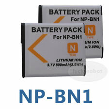 2x NP-BN1 Battery Fit for Sony Cyber-Shot DSC-W690 DSC-W710 DSC-W730 DSC-W800