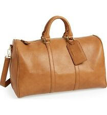 Small Duffle Bag Sole Society Vegan Faux Leather Cognac       GR0497