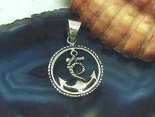 Kleiner Anker Anhänger 925 Silber Schiff Rockabilly Maritim anchor pendant